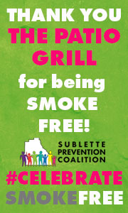 The Patio Grill is smoke-free
