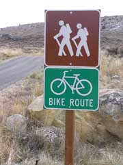 Bike path just outside of Pinedale. Pinedale Online photo