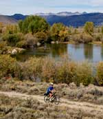 Biking around the CCC Ponds near Pinedale. Pinedale Online photo.
